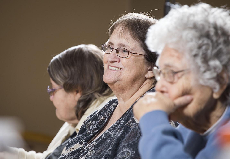 Three older adults
