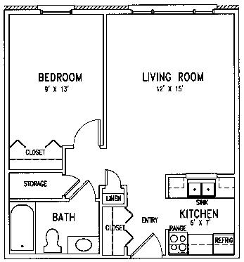 Messiah floor plan