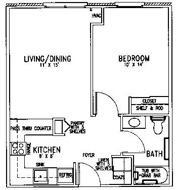 St James floor plan