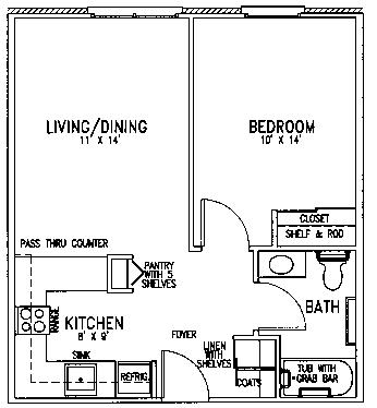 St Marks floor plan