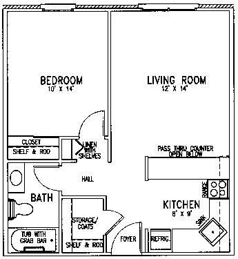 St Paul Trinity floor plan